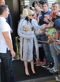 Lady Gaga fur and coar