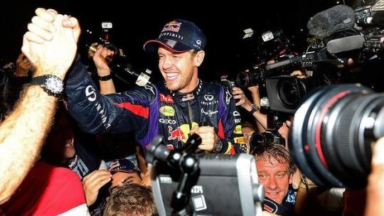 Sebastian Vettel emotional after Formula one championship win at Indian Grand Prix