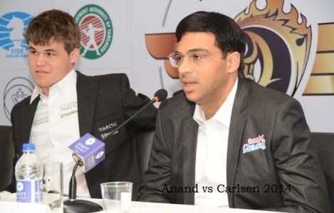 Anand vs carlsens 2014