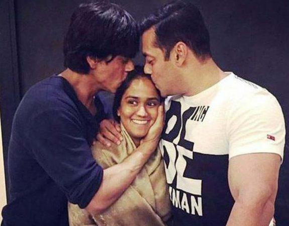 SRK in Salman's sister Arpita wedding.