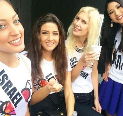 Miss Lebanon Saly Greige selfie with Miss Israel sparks outrage
