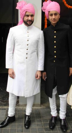 Saif Ali Khan and his son