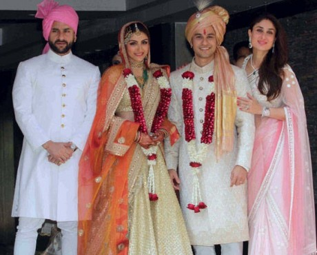 Soha Ali Khan Kunal Khemu wedding reception pics