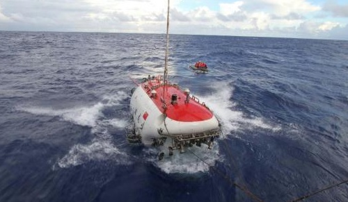 China's deep sea manned submersible named, 'Jiaolong'