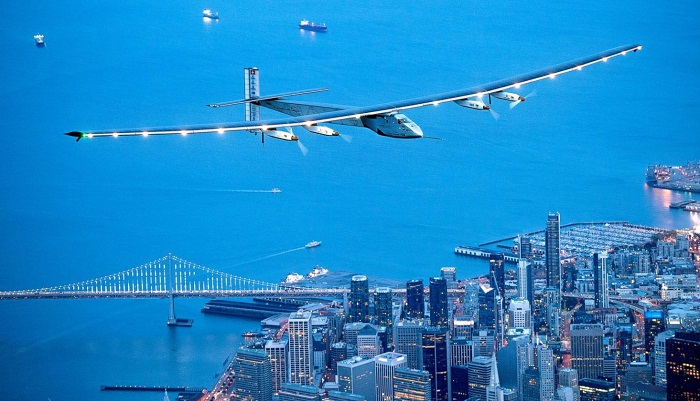 Solar Powered Plane lands in New York City