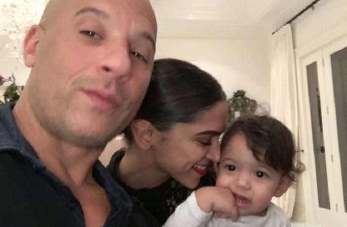 Vin Diesel post an adorable pic of Deepika Padukone holding his 15-month-old daughter