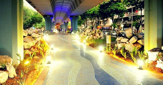 When Mumbaikars changed areas under flyovers into Walker's Paradise
