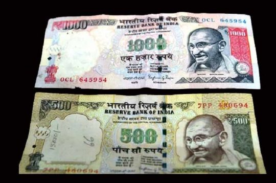 India bans Rs 500 and 1,000 rupee notes with immediate effect