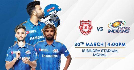 Kings XI Punjab vs Mumbai Indians [MI v KXIP] IPL 2019 live score, streaming, highlights on Star Sports