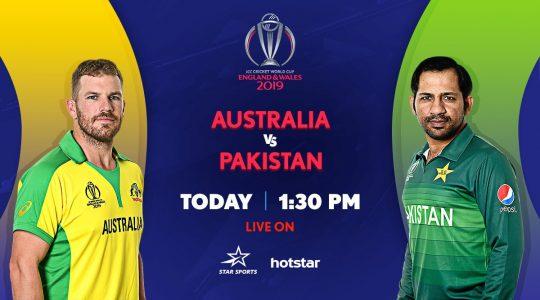 Star Sports, Hotstar, PTV Sports live streaming Pakistan vs Australia ICC WC 2019 match