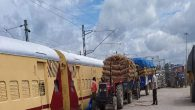 First Kisan Rail of North Eastern Railway carrying 210.5 Tonnes Potatoes in 4210 Bags