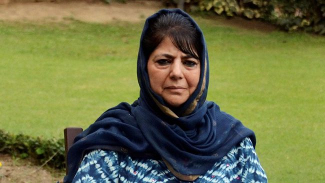 Mehbooba Mufti tweets 'Locked up in my house today yet again'