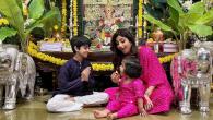 Shilpa Shetty celebrates Ganesh Chaturthi without Raj Kundra 'Our Gannu Raja is back to visit us'