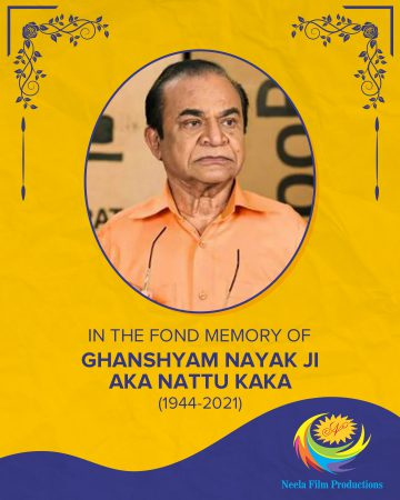 Ghanshyam Nayak aka Nattu Kaka Folded hands