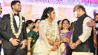 Photos: Union Minister Pralhad Joshi's daughters' wedding reception held in Hubli